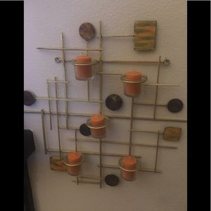 Metal Wall Art with tealights n candles